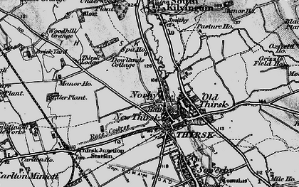 Old map of Thirsk in 1898
