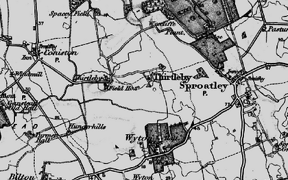 Old map of Wycliffe Plantn in 1897