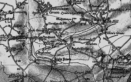 Old map of Leighs Lodge in 1896