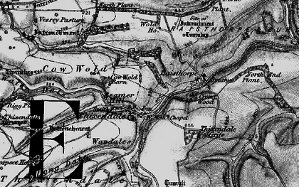 Old map of Wolds Way in 1898