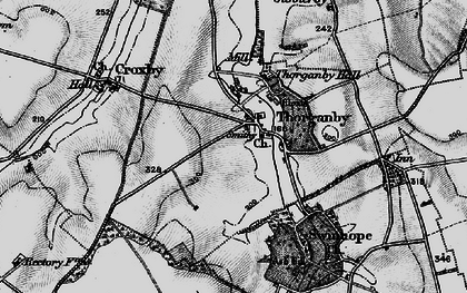 Old map of Ash Hill (Long Barrow) in 1899