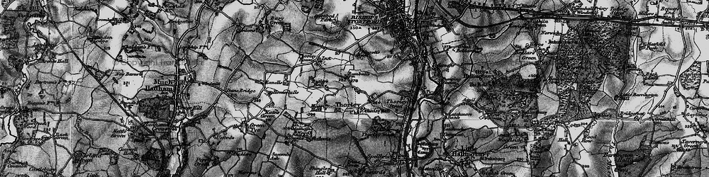Old map of Thorley in 1896