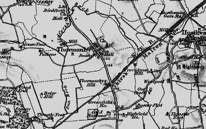 Old map of Woodman's Ho in 1898