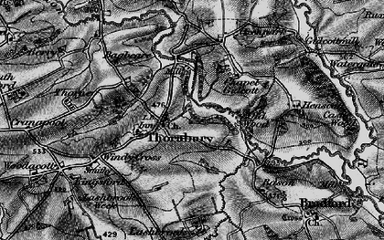 Old map of Lashbrook in 1895