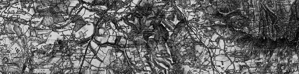 Old map of Winkworth Arboretum in 1896