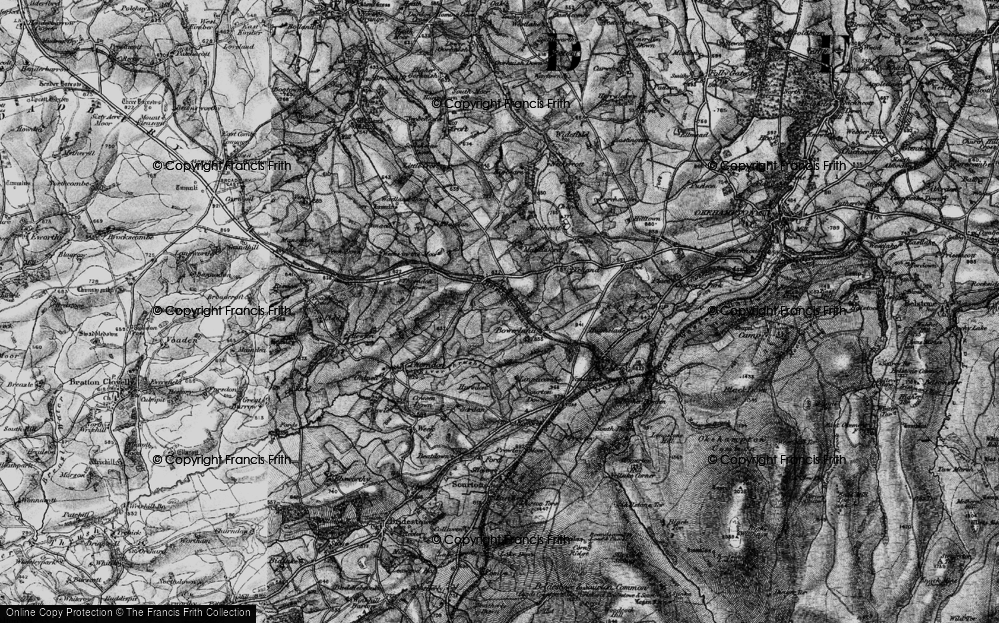 Old Map of Historic Map covering Linnacombe in 1898
