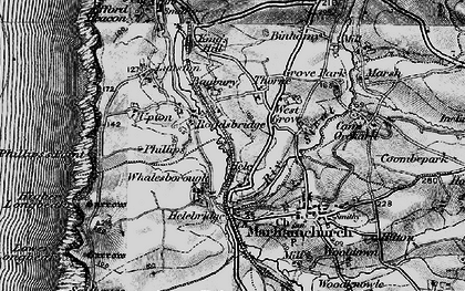 Old map of Thorne in 1896