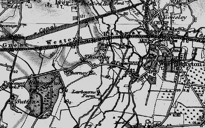 Old map of Thorney in 1896