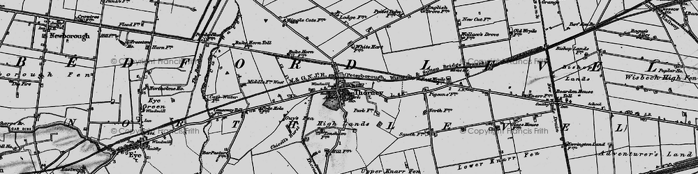 Old map of Thorney River in 1898
