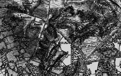 Old map of Whitten Bottom in 1895