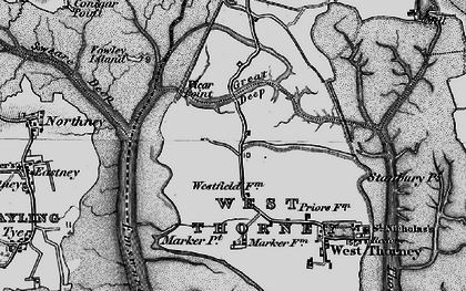 Old map of Wickor Point in 1895