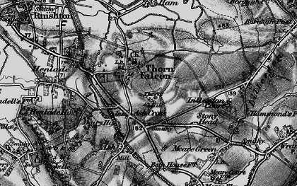 Old map of Ash Cross in 1898
