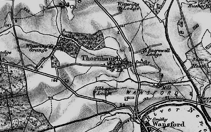 Old map of Wittering Grange in 1898