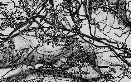 Old map of Thornhill Lees in 1896