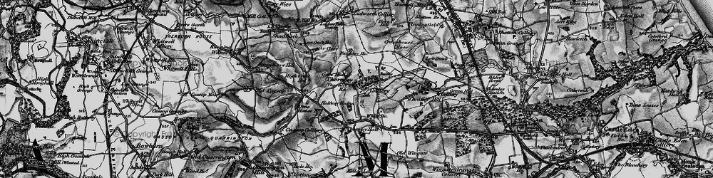 Old map of Thornley in 1898