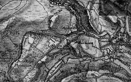 Old map of Agden Bridge in 1896