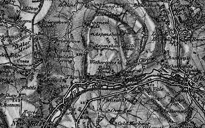 Old map of Wethercotes in 1896