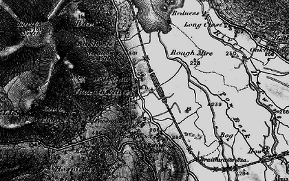Old map of Whinlatter Forest Park in 1897
