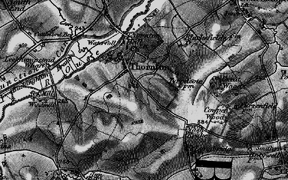 Old map of Thornton in 1896