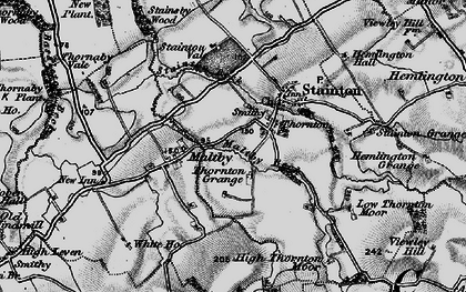 Old map of Stainton Beck in 1898