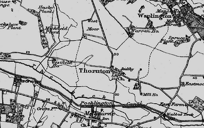 Old map of Allerthorpe Common in 1898