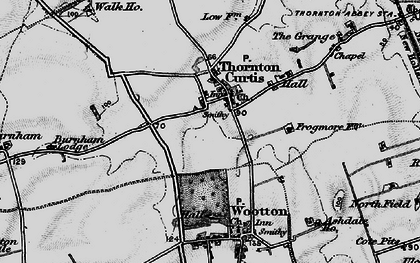 Old map of Thornton Curtis in 1895