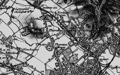 Old map of Thornton Heath in 1895