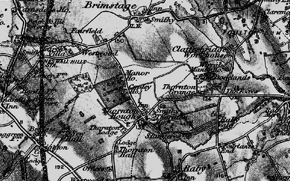 Old map of Wirral in 1896