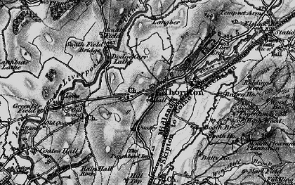 Old map of Thornton-in-Craven in 1898