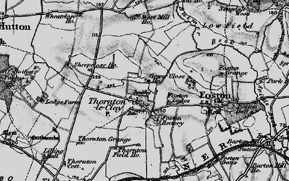 Old map of Lilling Hall in 1898