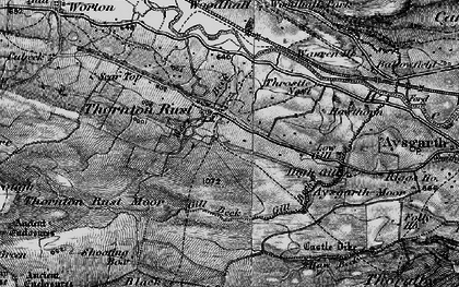 Old map of Aysgarth Moor in 1897