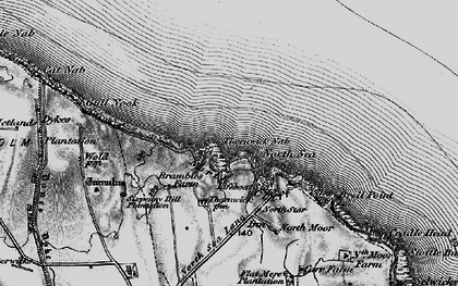 Old map of Thornwick Bay in 1897