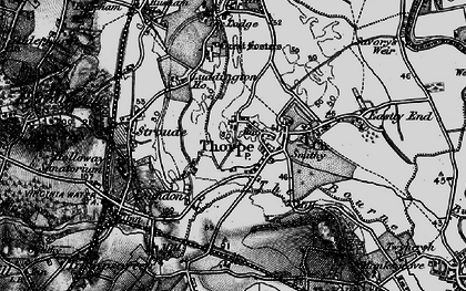 Old map of Thorpe in 1896