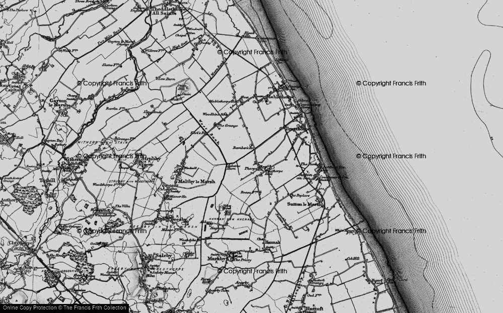 Old Map of Historic Map covering Bamber's Br in 1898