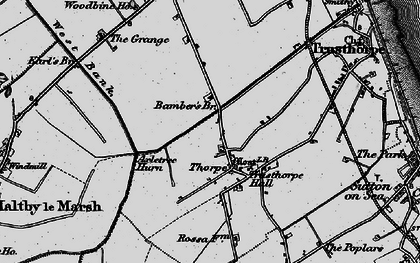 Old map of Axletree Hurn in 1898