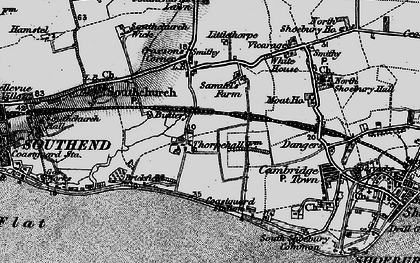 Old map of Thorpe Bay in 1895