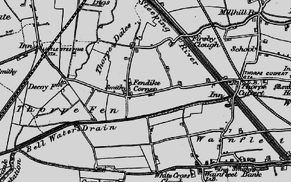 Old map of White Cross Clough in 1899