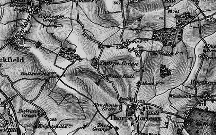 Old map of Almshouse Green in 1898