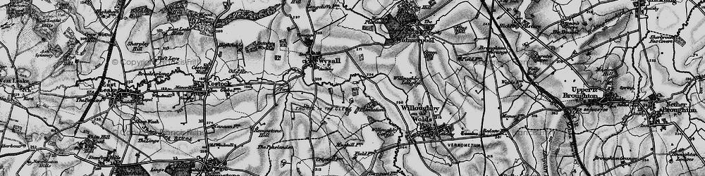 Old map of Windyridge in 1899