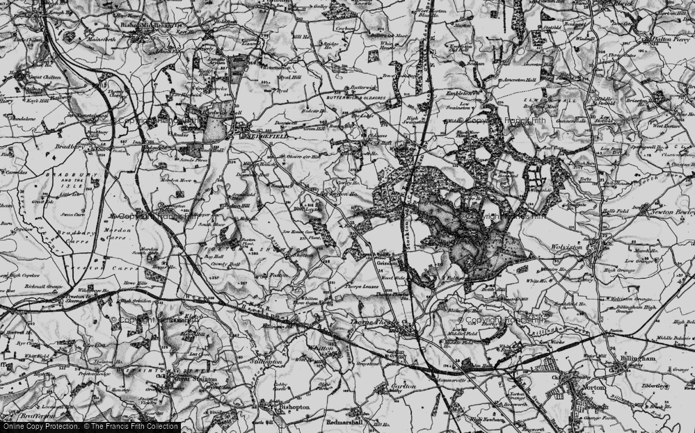 Old Map of Historic Map covering Layton Ho in 1898