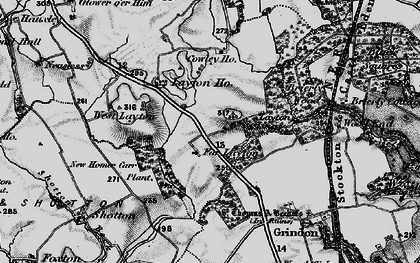 Old map of Layton Village in 1898