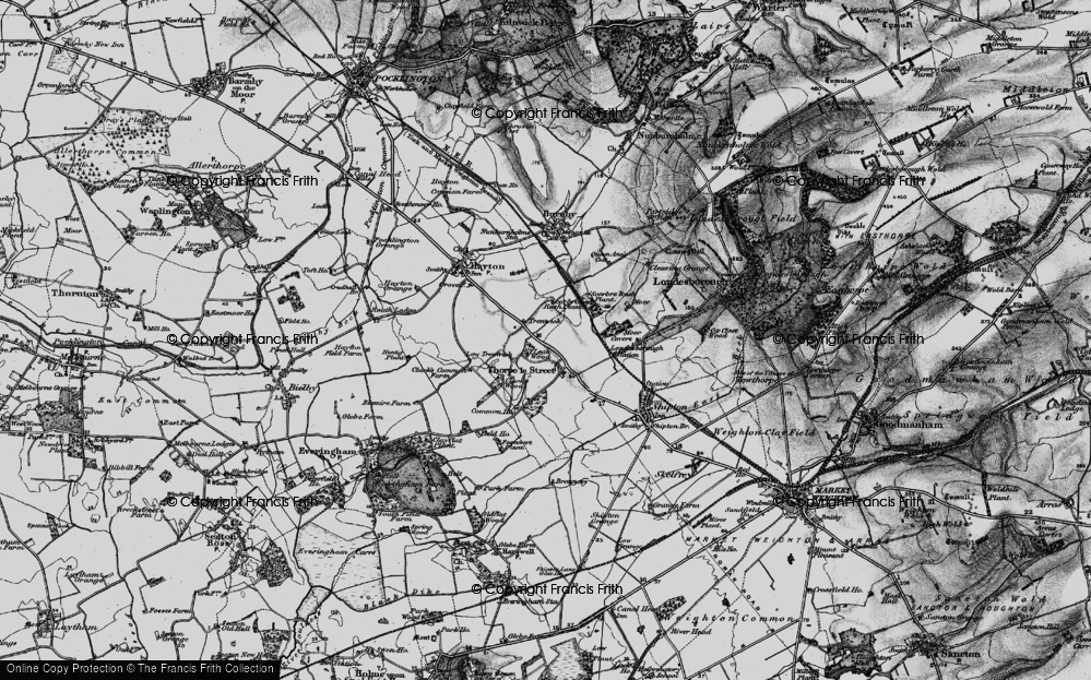 Old Map of Historic Map covering Leak Wood in 1898