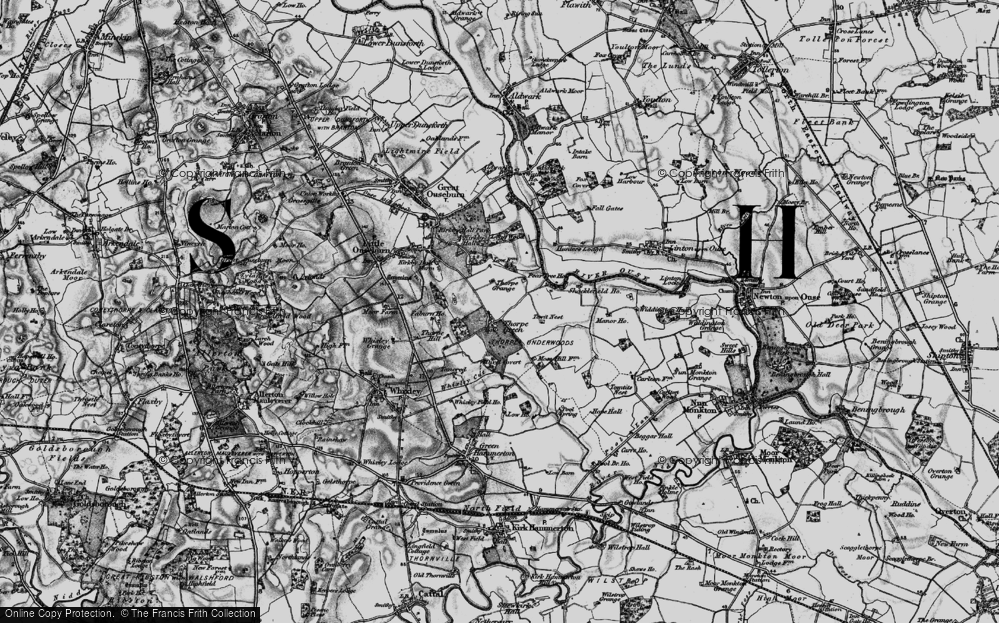 Old Map of Thorpe Underwood, 1898 in 1898