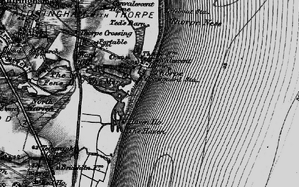 Old map of Thorpeness in 1898