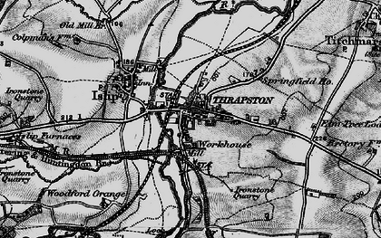 Old map of Thrapston in 1898
