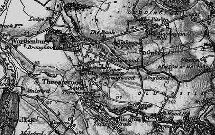 Old map of Tinkwood in 1897