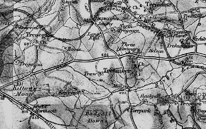 Old map of Three Hammers in 1895