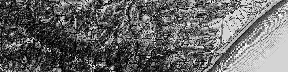 Old map of 1066 Country Walk Hastings Link in 1895
