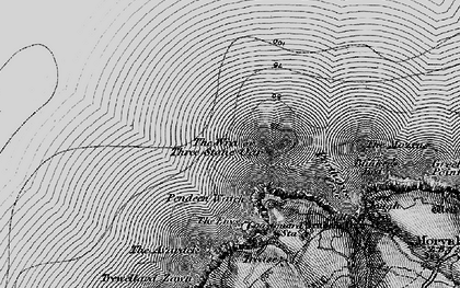 Old map of Three Stone Oar in 1896