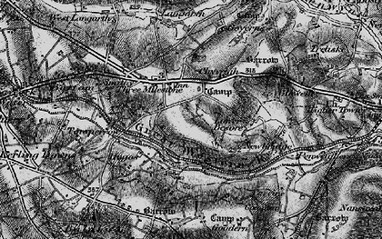 Old map of Threemilestone in 1895